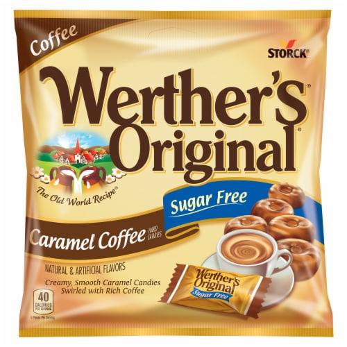 Werther's Original Sugar Free Carmel Coffee Perspective: top