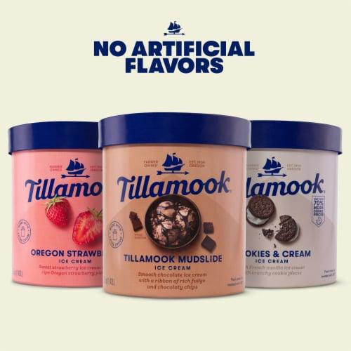 Tillamook Cookies & Cream Ice Cream Perspective: top
