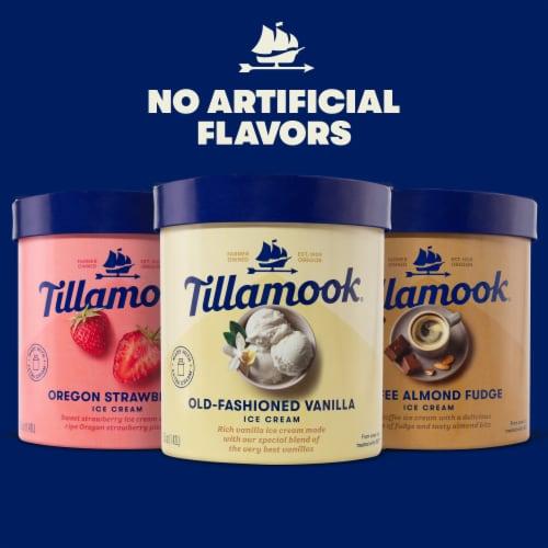 Tillamook® Coffee Almond Fudge Ice Cream Perspective: top
