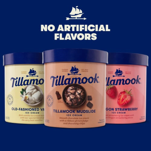 Tillamook Oregon Strawberry Ice Cream Perspective: top