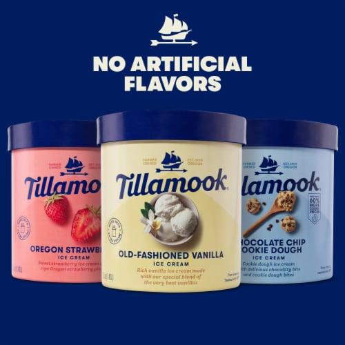 Tillamook Chocolate Chip Cookie Dough Ice Cream Perspective: top