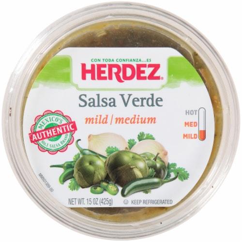 Herdez Mild-Medium Salsa Verde Perspective: top