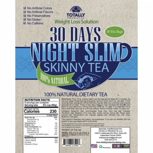 Night Slim Skinny Tea and MCT Oil Combo Pack Perspective: top