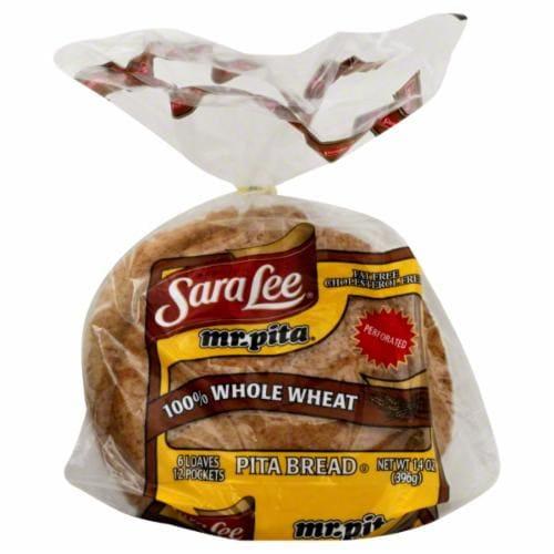 Sara Lee Mr Pita 100% Whole Wheat Pita Bread Perspective: top