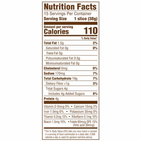 Sara Lee® Artesano™ Sweet Cinnamon Bread Perspective: top