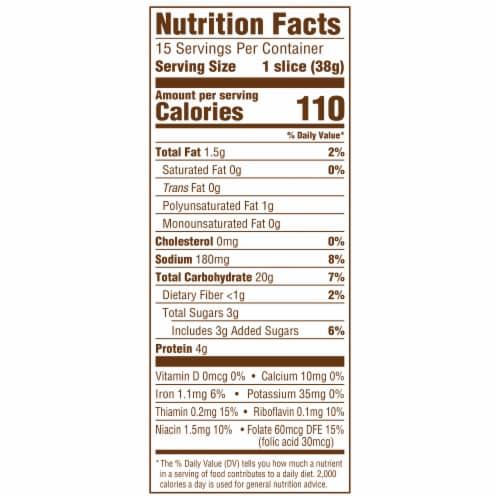 Sara Lee® Artesano™ Maple & Brown Sugar Bread Perspective: top