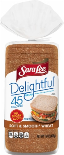 Sara Lee® Delightful Soft & Smooth Wheat Bread Perspective: top