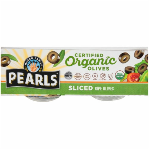 Pearls Organic Sliced Ripe Olive Cups 4 Count Perspective: top