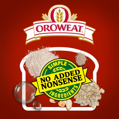 Oroweat Whole Grains 100% Whole Wheat Bread Perspective: top