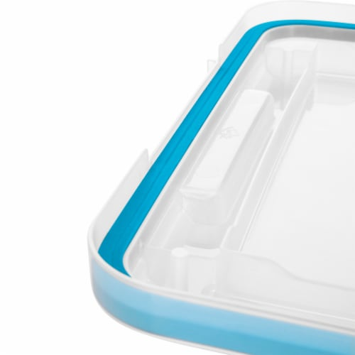 Sterilite Gasket Box - Blue Aquarium/Clear Perspective: top