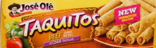 Jose Ole Corn Tortilla Beef Taquitos Perspective: top
