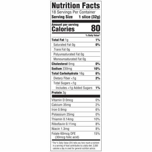 Arnold Premium Italian Sliced Bread Perspective: top
