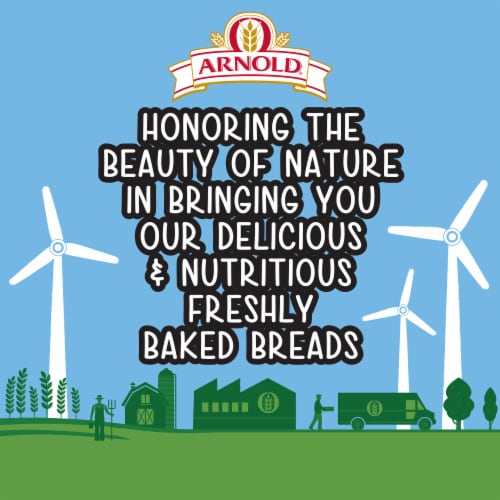 Arnold® Organic 22 Grains & Seeds Bread Perspective: top