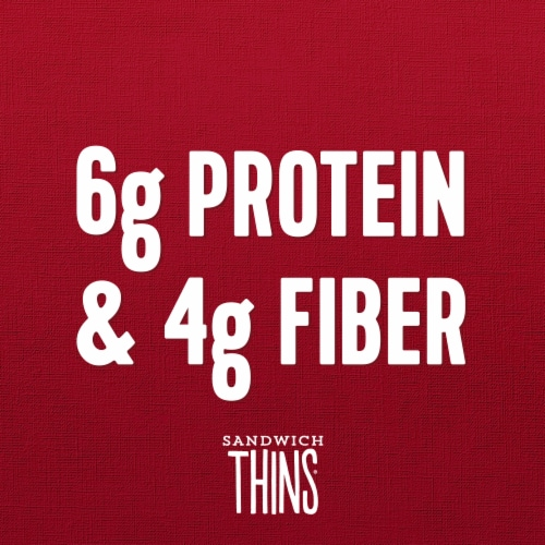 Brownberry 100% Whole Wheat Sandwich Thins Perspective: top