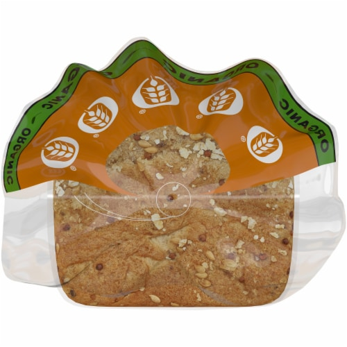 Oroweat Organic Thin-Sliced Sprouted Wheat Bread Perspective: top