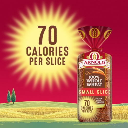 Arnold Small Slice 100% Whole Wheat Bread Perspective: top