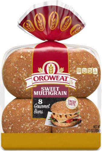 Oroweat® Sweet Multigrain Gourmet Hamburger Buns Perspective: top