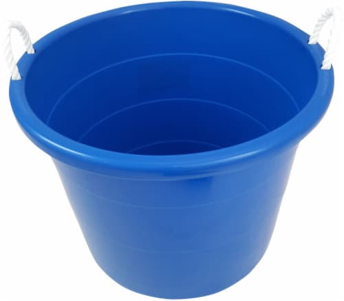 Homz Rope Handled Tub - Blue Perspective: top
