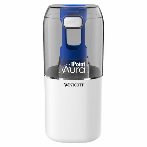 Westcott iPoint Aura Titanium Helical Blade Battery Powered Pencil Sharpener - Assorted Perspective: top