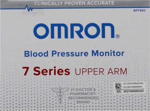 Omron® 7 Series Upper Arm Blood Pressure Monitor Perspective: top