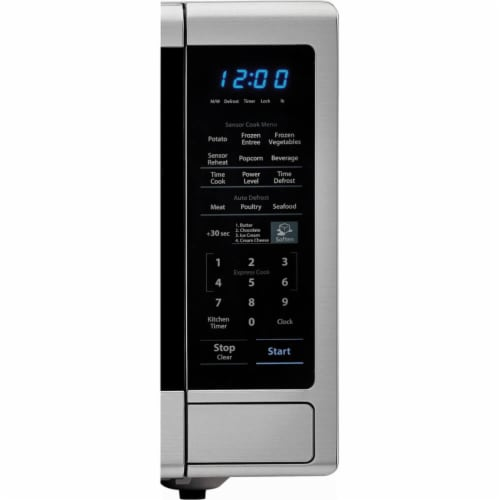 Sharp Stainless Steel Carousel Countertop Microwave Oven - Silver/Black Perspective: top