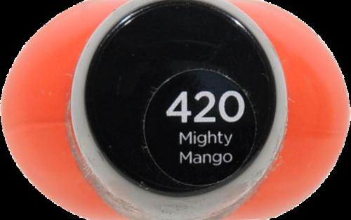 Sally Hansen Hard as Nails Mighty Mango Nail Polish Perspective: top