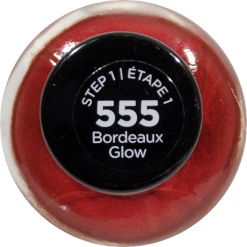 Sally Hansen Miracle Gel 555 Bordeaux Glow Nail Polish Perspective: top