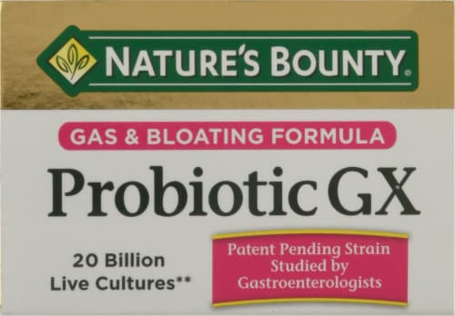 Nature's Bounty Probiotic GX Gas & Bloating Formula Capsules Perspective: top