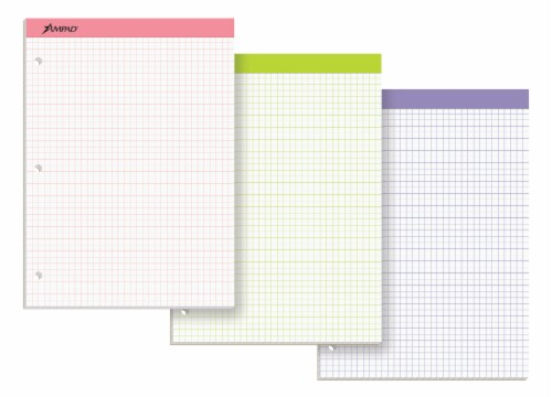 Ampad Quad Rule Double-Sheet Graph Pad - Assorted Perspective: top
