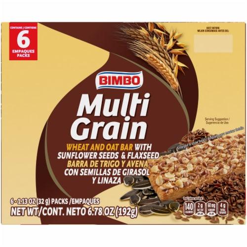Bimbo Multigrain Sunflower Seed Wheat & Oat Bars Perspective: top