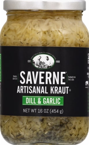 Saverne Dill & Garlic Artisanal Kraut Perspective: top