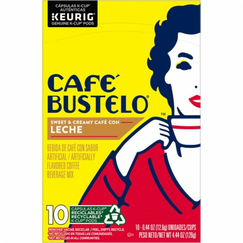 Cafe Bustelo® Cafe con Leche Coffee K-Cup Pods Perspective: top