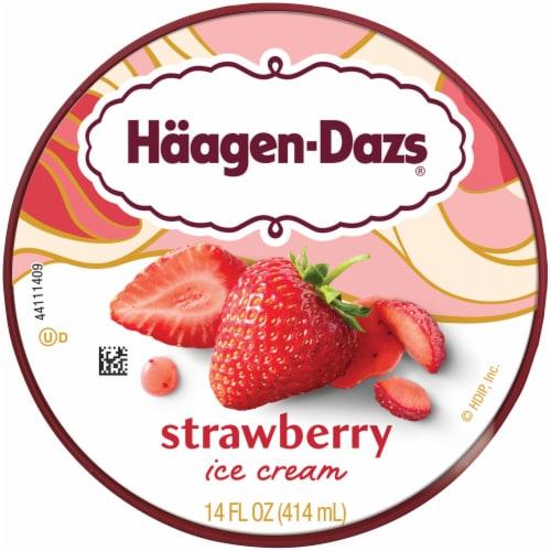 Haagen-Dazs® Gluten Free Strawberry Ice Cream Perspective: top