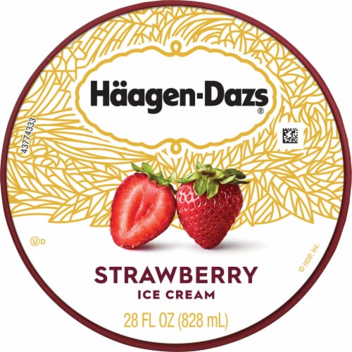 Haagen-Dazs Strawberry Ice Cream Perspective: top