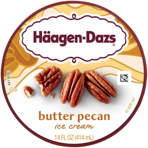 Haagen-Dazs® Gluten Free Butter Pecan Ice Cream Perspective: top