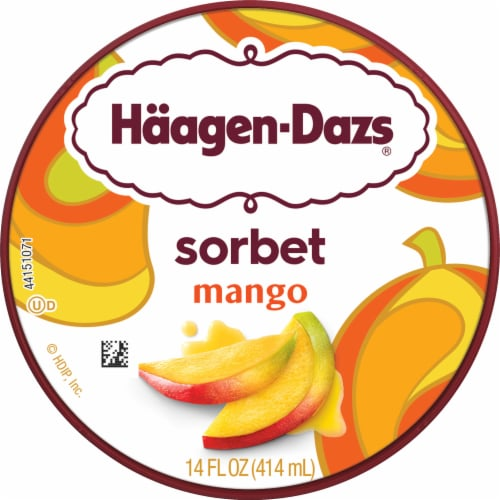 Haagen-Dazs® Mango Sorbet Perspective: top