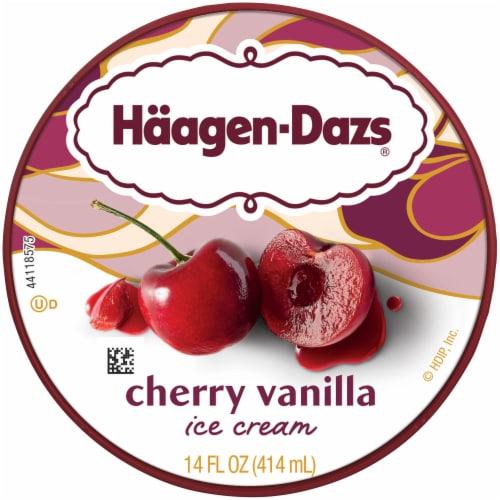 Haagen-Dazs® Cherry Vanilla Ice Cream Perspective: top