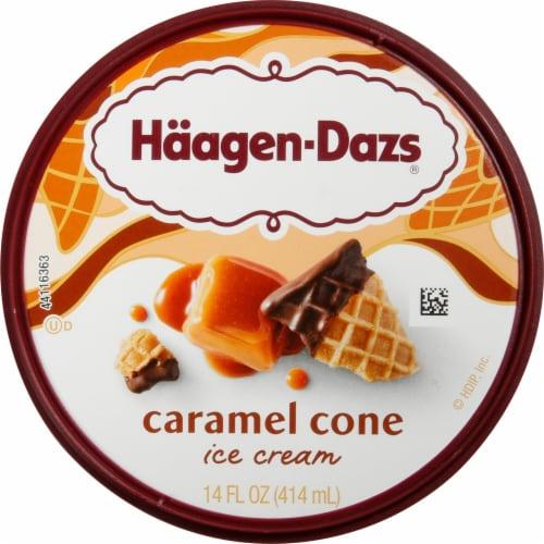 Haagen-Dazs Caramel Cone Ice Cream Perspective: top