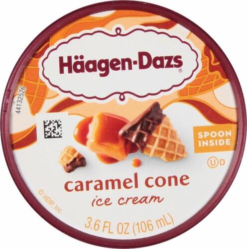 Haagen-Dazs Caramel Cone Ice Cream Cup Perspective: top