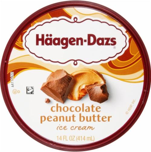Haagen-Dazs® Chocolate Peanut Butter Ice Cream Perspective: top