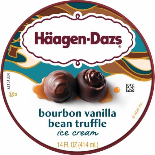 Haagen-Dazs Spirits Bourbon Vanilla Bean Truffle Ice Cream Perspective: top