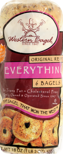 Western Bagel Everything Bagels Perspective: top