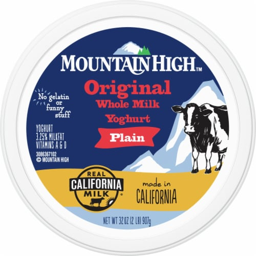Mountain High Original Style Plain Yoghurt Perspective: top