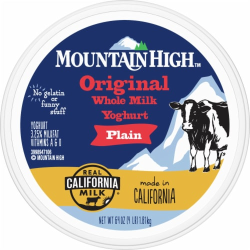 Mountain High Plain Original Whole Milk Yoghurt Perspective: top