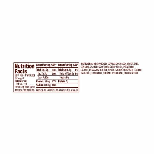 Foster Farms® Chicken Franks Perspective: top