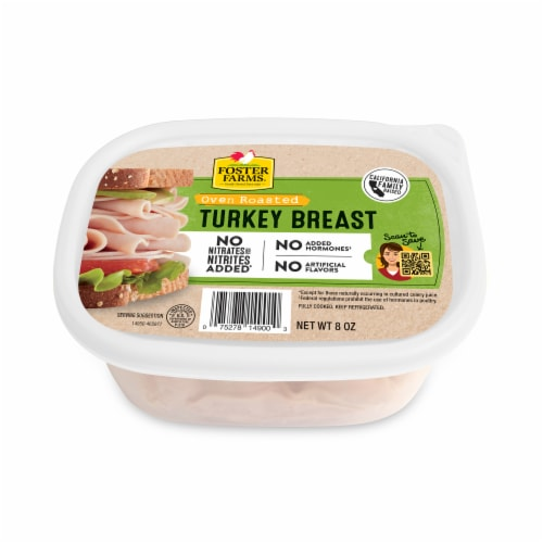 Foster Farms Sliced Oven Roasted Turkey Breast Perspective: top