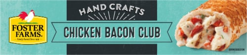 Foster Farms® Chicken Bacon Club Hand-Rolled Sandwiches Perspective: top