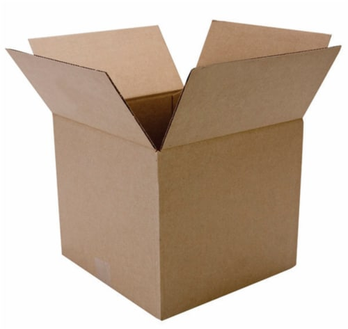 Duck® Brown Kraft Moving and Storage Box Perspective: top