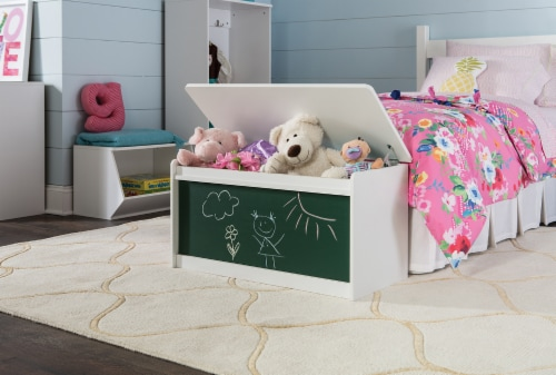 ClosetMaid KidSpace Chalkboard Toy Chest - White Perspective: top