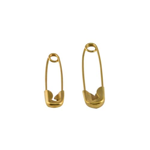 SINGER Brass Safety Pins Perspective: top